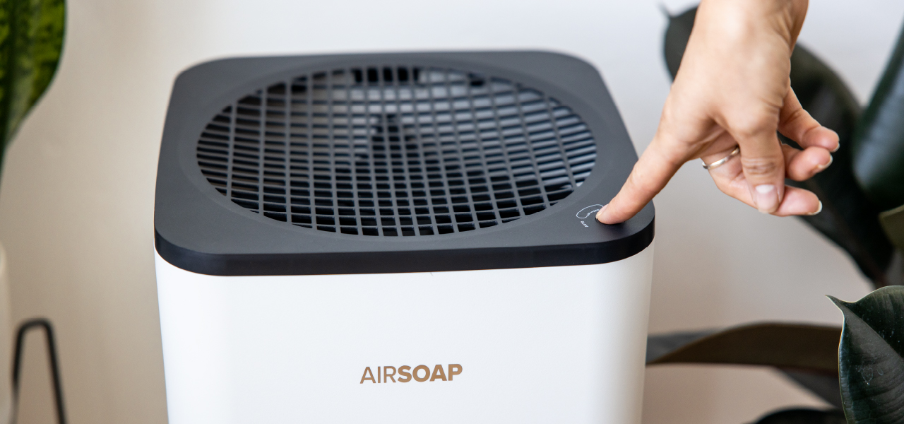 Airsoap with button press