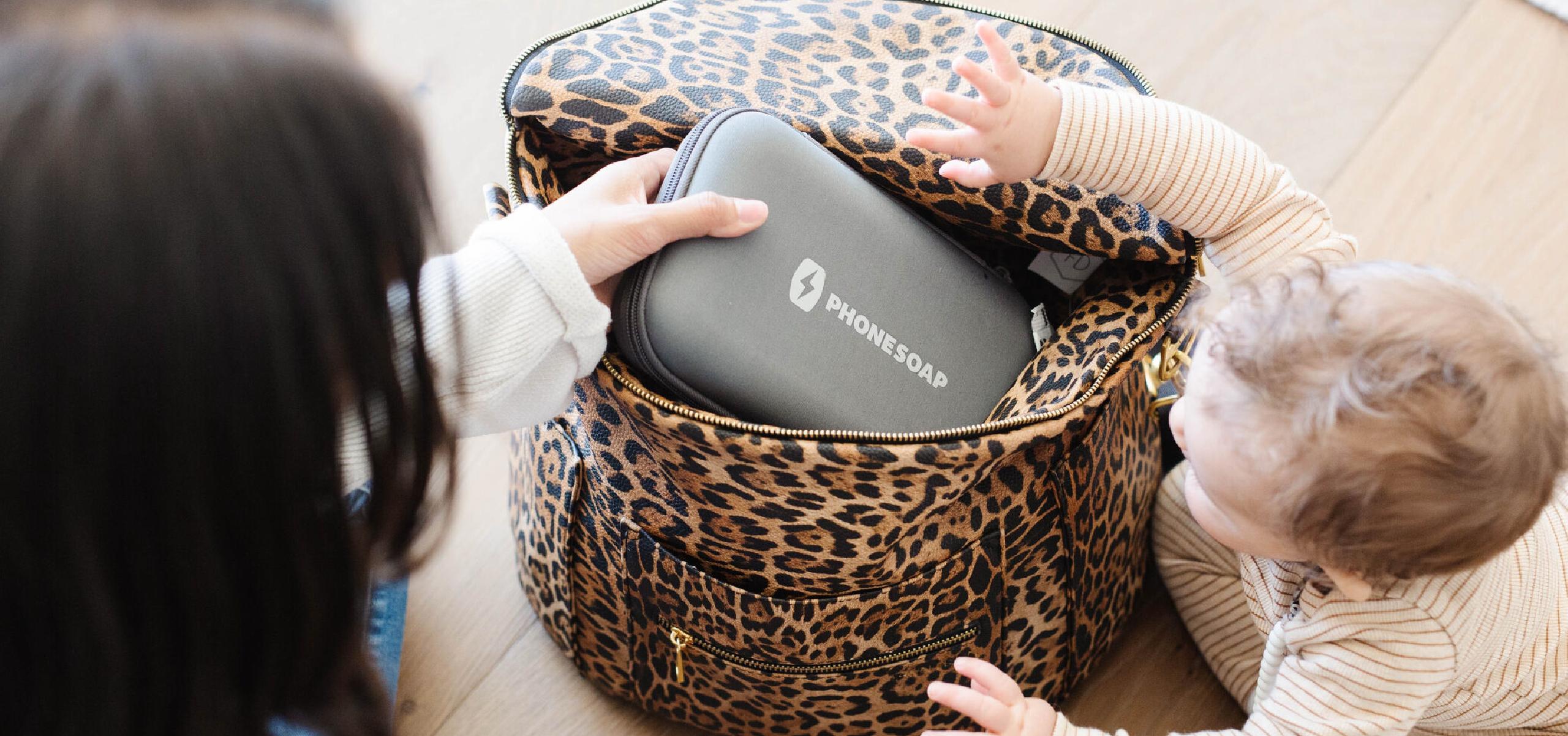 PhoneSoap Go in handbag