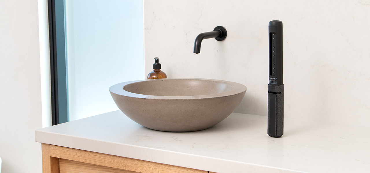 SurfaceSoap next to wash basin